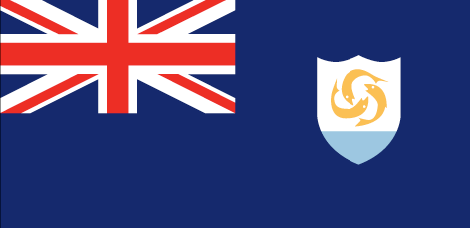 Anguilla flag - large - style 1