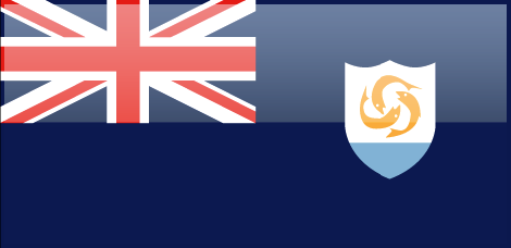 Anguilla flag - large - style 4