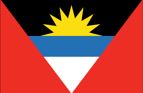 Antigua and Barbuda flag - large - style 1