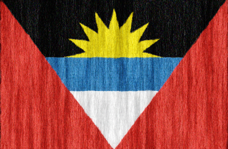 Antigua and Barbuda flag - large - style 2