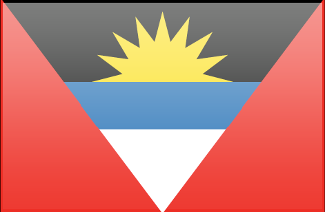 Antigua and Barbuda flag - large - style 3
