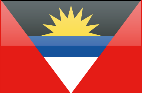 Antigua and Barbuda flag - large - style 4
