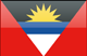 Antigua and Barbuda flag - small - style 4