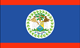 Belize flag - small - style 1