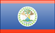 Belize flag - small - style 3