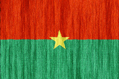 Burkina Faso flag - medium - style 2