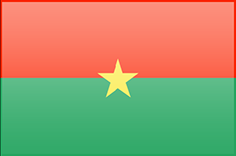 Burkina Faso flag - medium - style 3