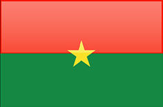Burkina Faso flag - medium - style 4
