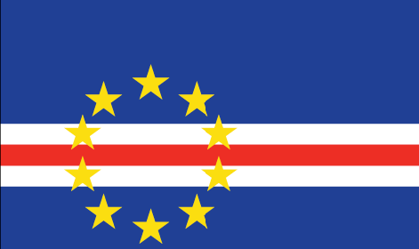 Cape Verde flag - large - style 1