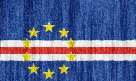Cape Verde flag - large - style 2