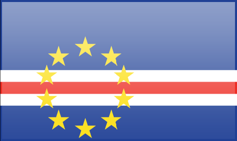 Cape Verde flag - large - style 3