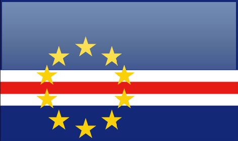 Cape Verde flag - large - style 4