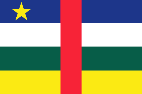 Central African Republic flag - large - style 1