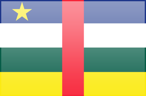 Central African Republic flag - large - style 3