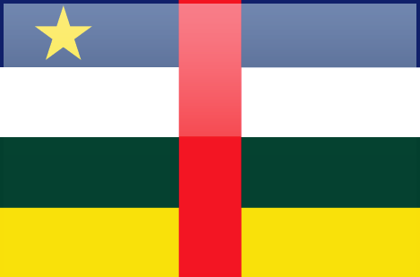 Central African Republic flag - large - style 4