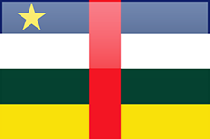 Central African Republic flag - medium - style 4