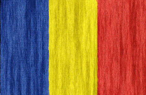 Chad flag - large - style 2