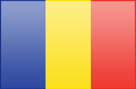 Chad flag - large - style 3