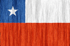 Chile flag - medium - style 2
