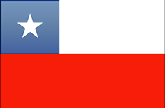 Chile flag - medium - style 4