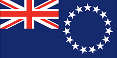 Cook Islands flag - medium - style 1