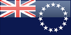 Cook Islands flag - medium - style 4