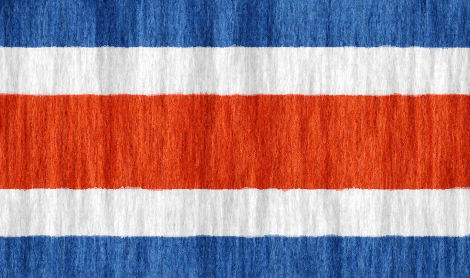 Costa Rica flag - large - style 2