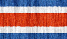 Costa Rica flag - medium - style 2