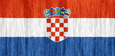 Croatia flag - medium - style 2