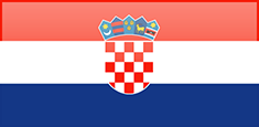 Croatia flag - medium - style 4