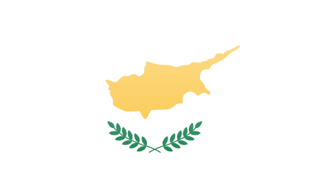Cyprus flag - large - style 3