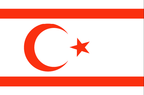Cyprus Northern free flag (large)