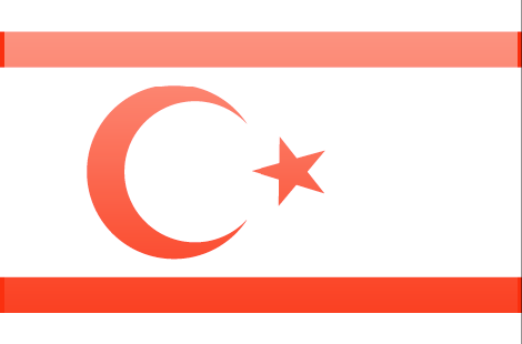Cyprus Northern flag - large - style 3