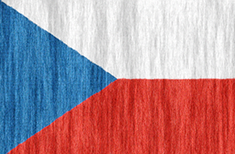 Czech Republic flag - medium - style 2
