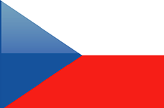 Czech Republic flag - medium - style 4