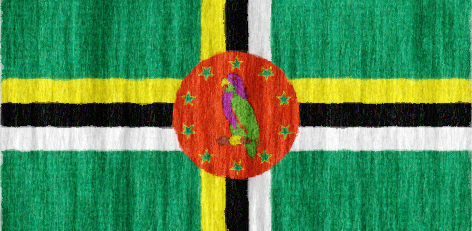 Dominica flag - large - style 2