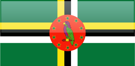 Dominica flag - large - style 4