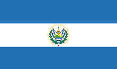 El Salvador flag - medium - style 1