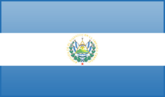El Salvador flag - medium - style 3