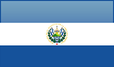 El Salvador flag - medium - style 4