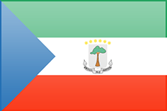 Equatorial Guinea free flag (medium)