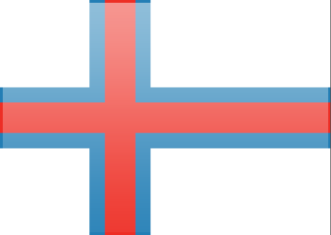 Faroe Islands flag - large - style 3