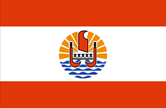 French Polynesia flag - medium - style 1
