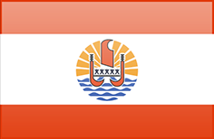 French Polynesia flag - medium - style 3