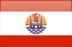French Polynesia flag - medium - style 4