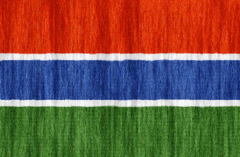 Gambia flag - large - style 2