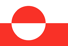 Greenland flag - medium - style 1