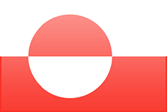 Greenland flag - medium - style 3