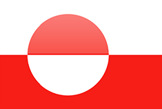 Greenland flag - medium - style 4
