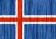 Iceland flag - small - style 2
